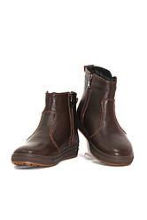 Ботинки зимние для девочек коричневые кожаные (011640)