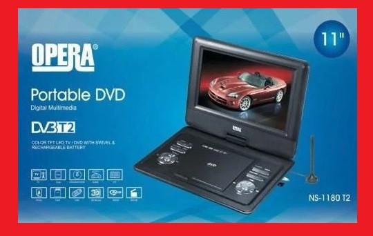 """11"""" DVD Opera NS-1180 Портативный DVD-проигрыватель с Т2 TV USB SD"""