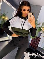 Женский спортивный костюм спорт шик с худи 66SP721Q