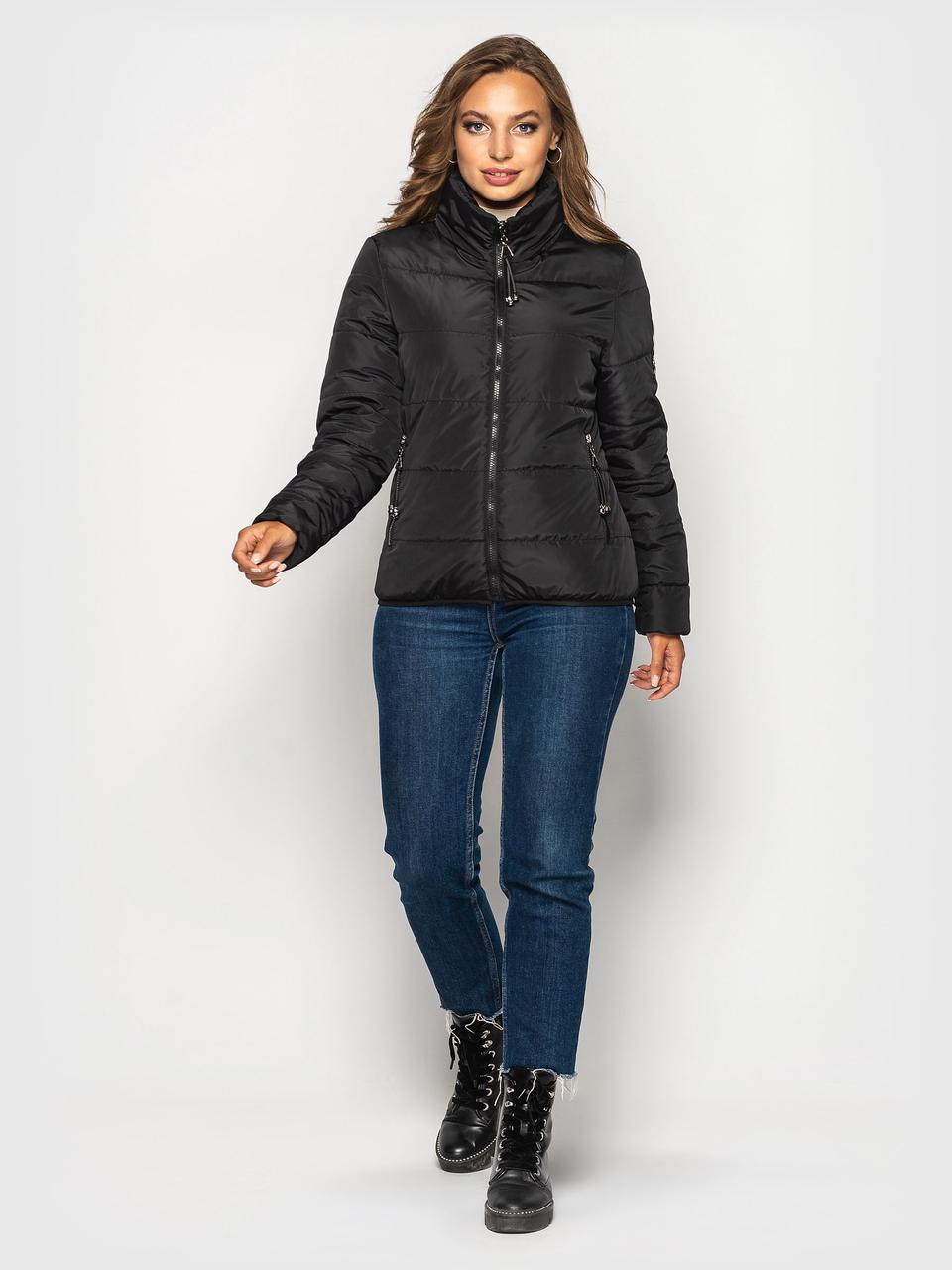 Демисезонная куртка Ирина черный(42-52)