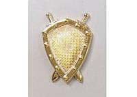 Эмблема юридической службы золотистая