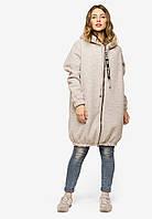 Женское пальто свободного кроя с капюшоном на молнии Modniy Oazis 90397