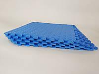 Мягкий пол, пазл 500*500*10 мм Синий
