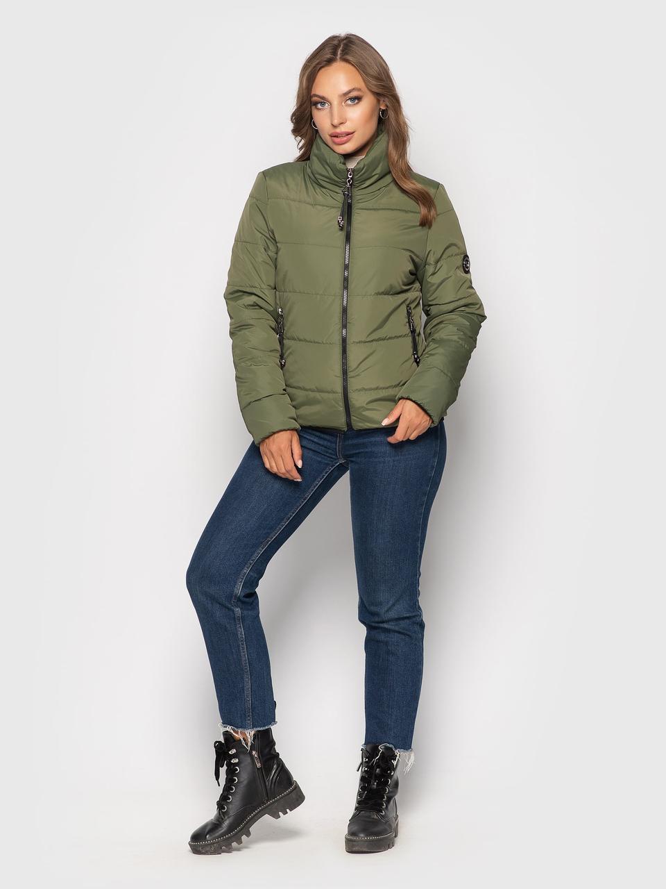 Демисезонная куртка Ирина хаки(42-52)