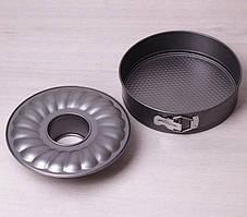 Набор разъемных форм для запекания 3 предмета 24 см из углеродистой стали Kamille KM-6021