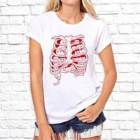 Женская футболка с дизайнерским принтом Ребра Push IT