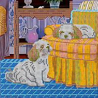 Схема для вышивки бисером на натуральном художественном холсте Дневной отдых