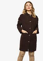 Женское полуприталенное пальто на пуговицах с поясом Modniy Oazis 90400