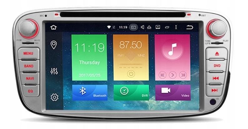 Штатная магнитола 2DIN Android 9 для Ford Mondeo / Focus / C-Max / Kuga Wi-fi 16Gb/2Gb