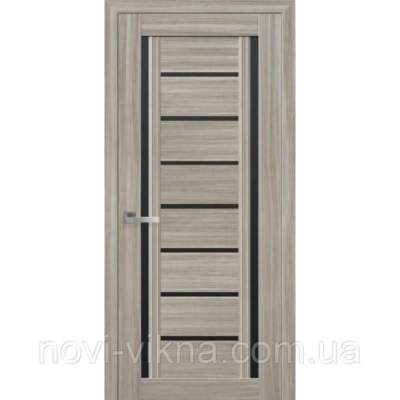 Дверь межкомнатная Флоренция С2 жемчуг magica 600 мм со стеклом BLK (черное).