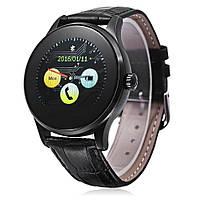 Смарт часы K88H, черный кожаный ремешок