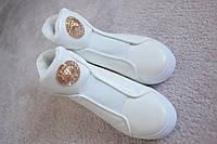 Женские кроссовки полуботинки в стиле GUCCI  белые резинка  36-38 новинка!