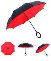 Ветрозащитный двойной зонт, красный