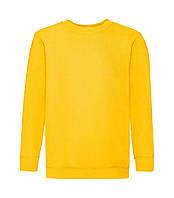 Детский свитшот однотонный желтый 041-34