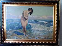 Картина Среди волн Ф.Выгживальский 1920-е г.