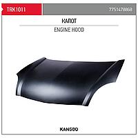 Капот renault kangoo 03- (Пр-во TORK Турция)