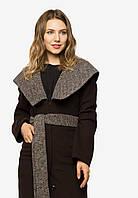 Пальто жіноче з великим відкладним коміром з поясом Modniy Oazis 90401