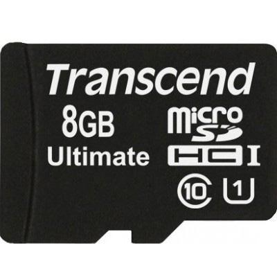 Карта памяти Transcend 8Gb microSDHC Class 10 UHS-I Ultimate 600x (TS8GUSDHC10U1)