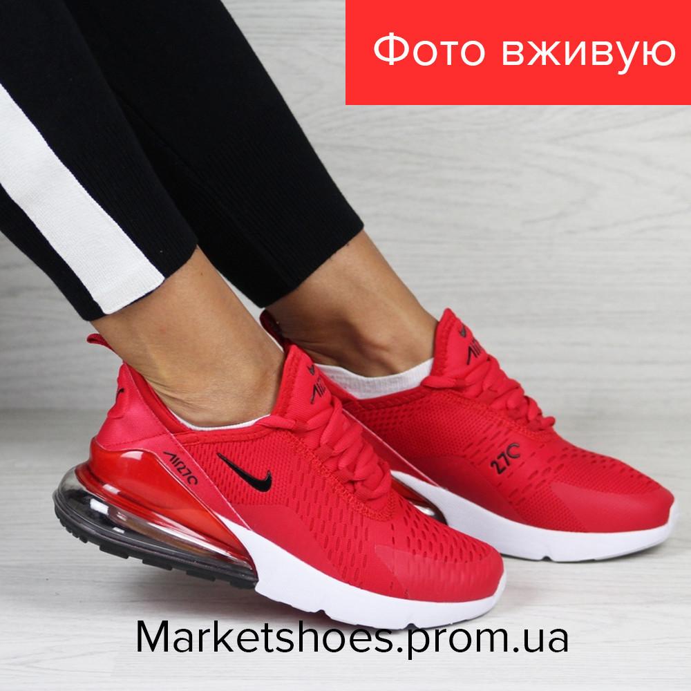 Женские кроссовки Nike Air Max 270 красные | Найк Аир Макс 270,сетка, стильные, модные, 2019