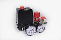Автоматика к компрессору (2 манометра, редуктор 1 выход кран) Profline 20a