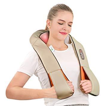 Массажер роликовый для дома,шеи и спины Massager of Neck Kneading ( 4 кнопки )