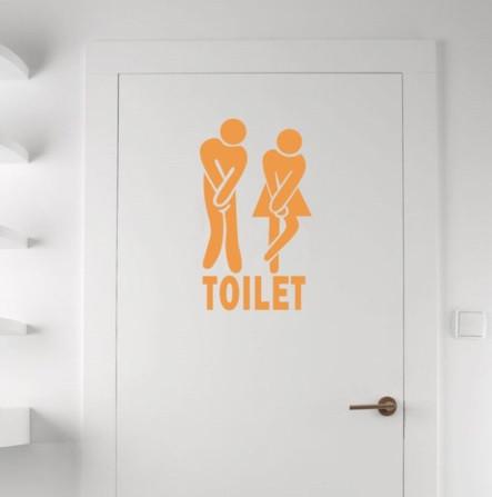 Наклейка на дверь туалета 11*18см