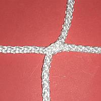 Сетка заградительная безузловая испанская, D – 4 мм, ячейка – 3,5 см, для защиты окон в спортзале, белая, фото 1