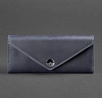 Женский кожаный кошелек Керри 1.0 (синий), фото 1