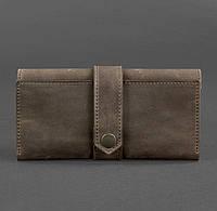 Кожаное женское портмоне 3.0 (темно-коричневое), фото 1