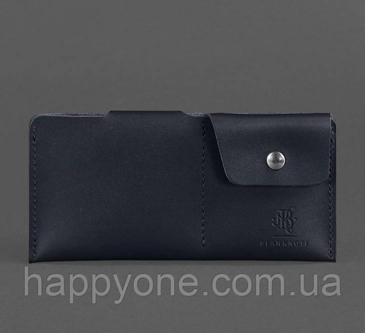 Кожаное портмоне-купюрник 8.0 (черное)