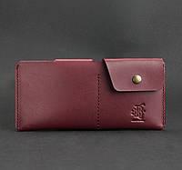 Женское кожаное портмоне-купюрник 8.0 (бордовое), фото 1