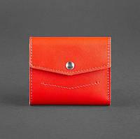 Женский кожаный кошелек 2.1 (красный), фото 1