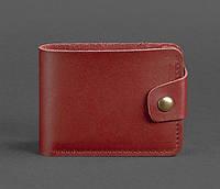 Женское кожаное портмоне 4.3 (бордовое), фото 1