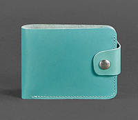 Женское кожаное портмоне 4.3 (бирюзовое), фото 1