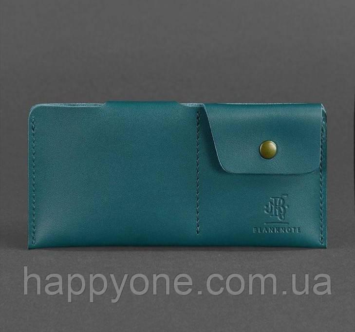Женское кожаное портмоне-купюрник 8.0 (зеленое)