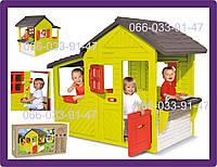 Игровой домик со звонком и кухней Neo Floralie Smoby 310300