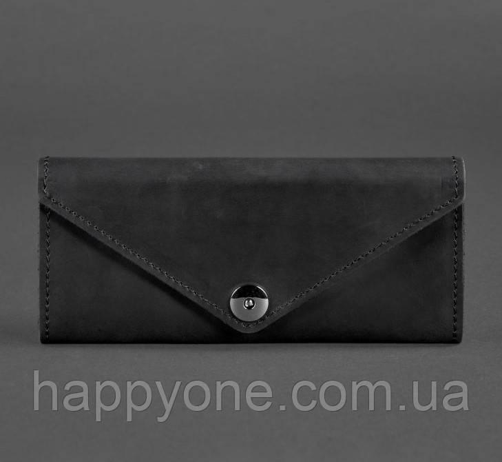 Женский кожаный кошелек Керри 1.0 (кожа Crazy Horse) черный