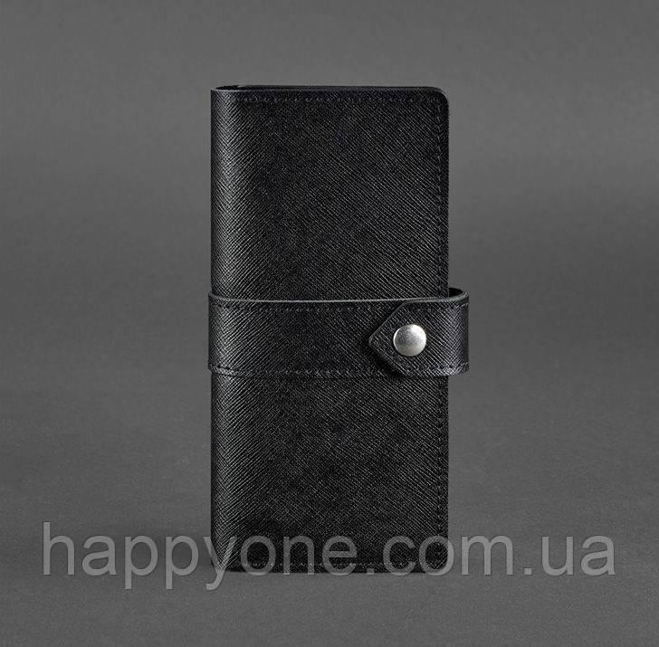 Кожаное женское портмоне 3.1 Blackwood (кожа портофино) черное