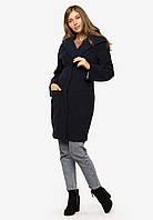 Пальто жіноче з великим відкладним коміром з поясом Modniy Oazis 90402