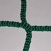 Сетка оградительная безузловая испанская D – 4 мм, ячейка –3,5 см, для ограждения спортивных площадок, зелёная