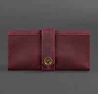Кожаное женское портмоне 3.0 (кожа crazy horse) бордовое, фото 1