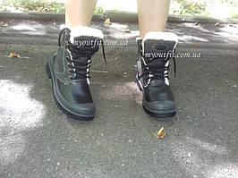 Женские ботинки утепленные стильные Черные   Размер 36  