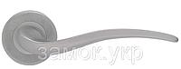 Дверная ручка с накладкой под цилиндр MARIANI ONDA хром матовый, фото 1