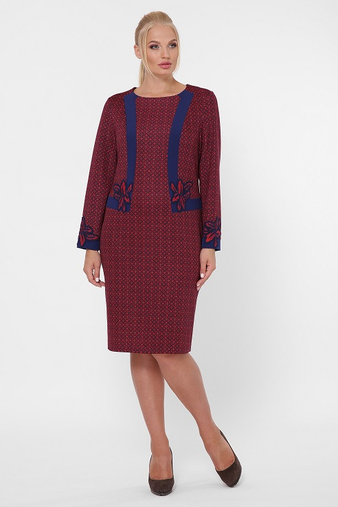 Красивое платье Донна круги (50-60)