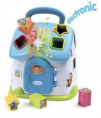 Игрушка для развития Cotoons Домик, с сортером, звук. и свет. эффектами, голубой, 12 мес. + Smoby 110403