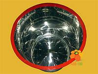 Медогонка поворотная 4-х рамочная нержавеющая (кассеты сварные) с червячным эл.приводом с алюм.корпусом, фото 1