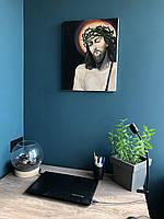 "Картина маслом на религиозную тематику ""Иисус с копьем Лонгина"""