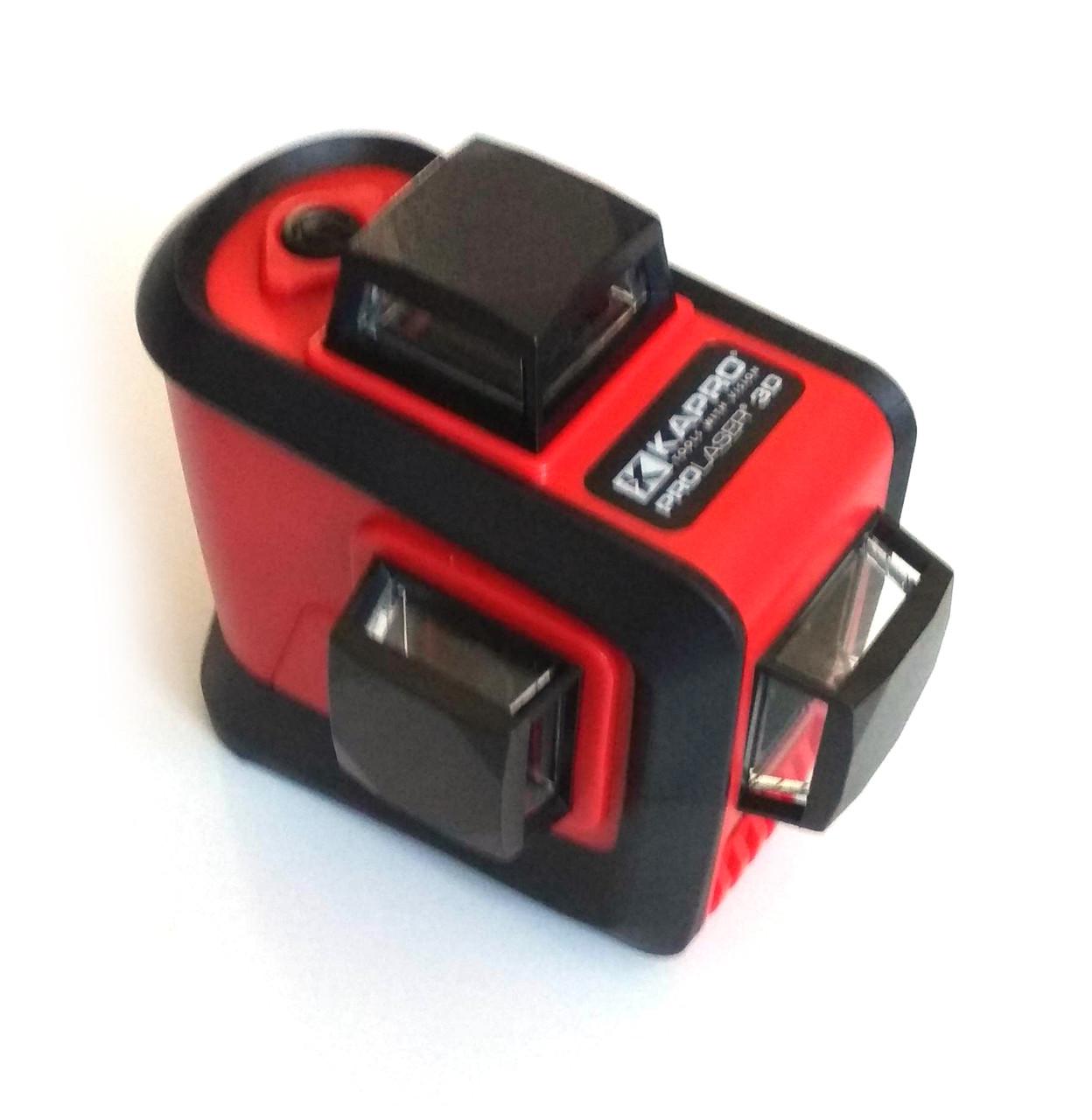 Лазерный уровень 3х360° Kapro 883N. Имеет три лазерных диода. В комплекте идет ударопрочный кейс.