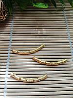 Трубочки бижутерные , золото, 35 мм