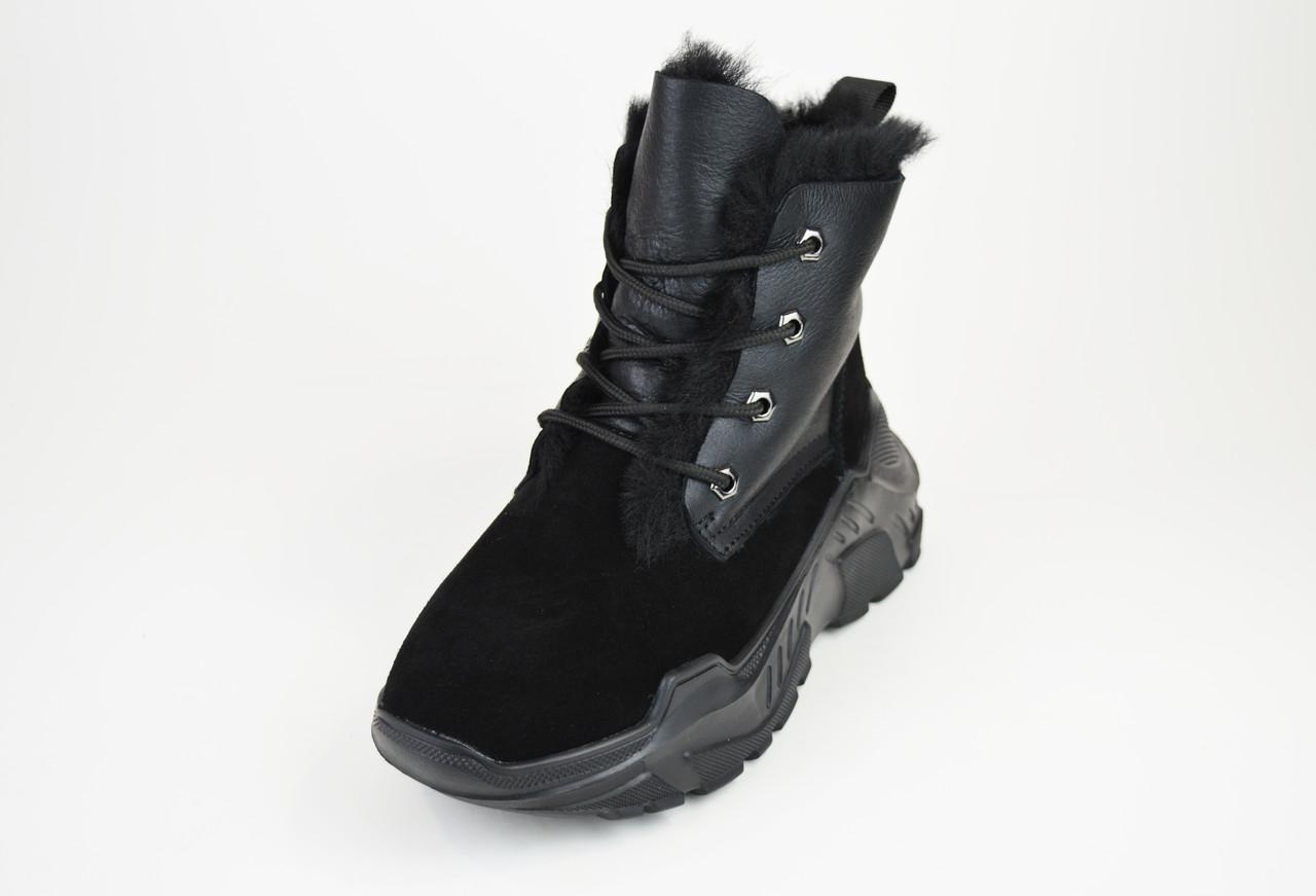 Ботинки замшевые зимние спорт Prima 2102